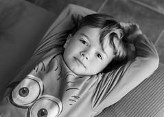 Cándido. 270/365. (anajvan) Tags: niño inocencia byn relax