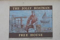 The Jolly Boatman pub wall sign Newhaven East Sussex UK (davidseall) Tags: the jolly boatman pub pubs sign signs wall inn tavern bar public house houses newhaven east sussex uk gb british english