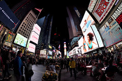 Times Square at night (WilliamND4) Tags: nyc newyorkcity timessquare people night signs nikond750 wideangle rokinon