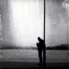 lstn t m (Vesa Reijonen) Tags: man alone outside street stranger fun feeling spring