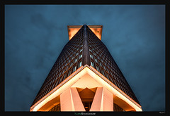 A'dam First Light (Ilan Shacham) Tags: architecture abstract graphic building tower adam amsterdam netherlands triangle perspective up fineart fineartphotography dawn bluehour repetition light geometry