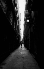Vertical street (elgunto) Tags: barcelona elborn street streetphotography people narrow vertical highcontrast blackwhite bw sonya7 manuallense nikon2035 ai
