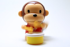 AD8A2444_p_g (thebiblioholic) Tags: motionblur 365 toy monkey drum closeup lensbaby velvet56