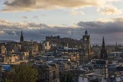 Classic Edinburgh From Calton 13 April 2017 (Colin Myers Photography) Tags: classic edinburgh from calton hill caltonhill classicedinburgh skyline cityscape sky line city scape auld reekie castle edinburghcastle sunset sun set scotland scottish colin myers photography colinmyersphotography