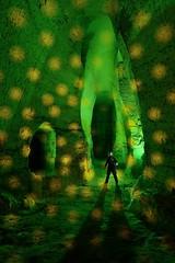 Aurora Movement - Mafu Fuma (palateth) Tags: lightpainting lightart night belgique belgie belgium nophotoshop singleexposure sooc auroramovement collab portrait limestonequarry underworld