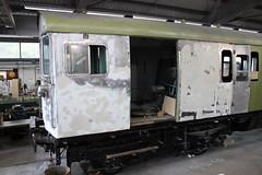 2-HAP undergoing cosmetic restoration (372Paul) Tags: nrm shildon nationalrailwaymuseum steam diesel electric e5001 class71 deltic lner emu 2hap black5 5000 sanspareil apt advancedpassengertrain