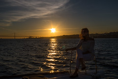 Enjoying sunset from a boat (Infomastern) Tags: lisboa lisbon lissabon portugal riotejo river tagus tagusriver cloud flod kvinna sky solnedgång sunflare sunset vatten water woman exif:model=canoneos760d exif:focallength=24mm geocountry camera:make=canon exif:isospeed=100 camera:model=canoneos760d geostate geolocation exif:lens=efs18200mmf3556is geocity exif:aperture=ƒ16 exif:make=canon