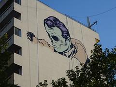 D-Face : création en cours (25 avril 2017) (Archi & Philou) Tags: dface streetart murpeint paintedwall travailencours wip workinprogress paris13 pinel homme femme visage man woman face