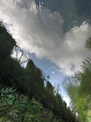 Don't Fall Head Over Heels (andressolo) Tags: reflection reflections reflect reflected reflejos reflejo ripples río river water distortions distortion distorted agua clouds
