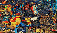Valparaiso Shipyard (or, The Drawers in My Mind) (D'ArcyG) Tags: shipyard abstract urban industrial commercial boxcar containers equipment corrugated vehicles impression vivid valparaiso chile port harbor loading dock
