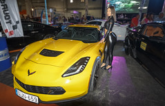 Corvette (Kácsor Zsolt) Tags: canon colors color city car capital chevrolet corvette model lights light leggings town tuning depth sport show vehicle wheel wheels women usm hungary budapest indoor 70d 1022 helyszínek high heels heel people hungexpo