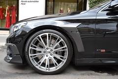 Mercedes Brabus 850 Biturbo (Monde-Auto Passion Photos) Tags: vehicule auto automobile mercedes brabus noir berline sportive jante roue biturbo france paris