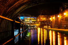 Canal - Brindley place (stevehimages) Tags: blindly place canal sherborne wharf night water lights steve higgins steveh stevehimages birmingham brum west midlands wowzers warden grandpas den grandpasden 2017