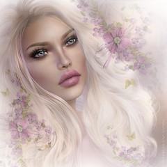 ~Moi~ (Pam Astonia) Tags: secondlife digitalart fantasy dreamy ethereal model softfocus pamastonia flowers