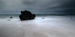 Long exposure at Ballycastle (Frédéric Lefebvre - Landscape photography) Tags: ballycastle uk antrim antrimcoast ireland northernireland beach longexposure waves rock cloud moody grey greaterphotographers