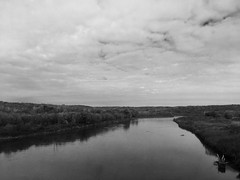 Riverside Perch (SkySNAPS Photography) Tags: boone iowa ledgesstatepark park roadtrip vacation monochrome blackwhite sky clouds river water desmoinesriver serene