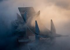 Lost in the Fog (kleptografy) Tags: fog architecture architecturebuilding building morning sunrise light structure totalphoto