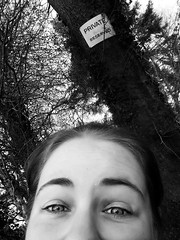 (Bessy Bumblebee) Tags: selfie selfportrait sign private reserved blackandwhite monocrome monochrome eyes