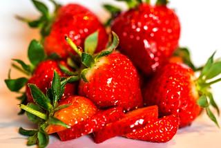 Glazed strawberries