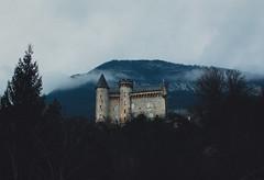 Château de Montveran, France (Steve Majou) Tags: castle france montveran winter spring blue mountain tree trees dark light nikon fog mist d7100 35 mm travel landscape