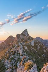 Sunset from behind the peak (stefannik) Tags: peak mountain landscape landscapes hdr sky mount sunset beautiful awesome nature nikon nikkor blue rocks high