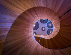In A Spin - London (Christopher Pope Photography) Tags: chic 2017 christopherpopephotography london chrispope wwwchristopherpopephotographycom2017 staircase spiralstairs swirl wwwchristopherpopephotographycommick panels southbank hotel
