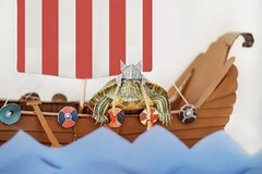 Return of the Vikings (City Turtles) Tags: nyc canon flag red white ship viking photography petphotography flickr photo reptile cute animal pet turtle