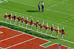 Cheerleaders - Kansas City Chiefs v Jacksonville Jaguars -  2016 (Dis da fi we (was Hickatee)) Tags: usa kansas arrow head arrowheadstadium arrowhead chief chiefs football americanfootball kansascity cheerleaders girls skirts shortskirts shortskirt