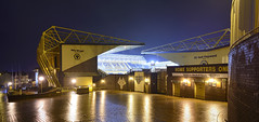 The Molineux, Wolverhampton 11/02/2017 (Gary S. Crutchley) Tags: molineux wolverhampton wanderers stadium football ground soccer uk great britain england united kingdom urban town townscape black country blackcountry staffordshire staffs west midlands westmidlands nikon d800 history heritage local night shot nightshot nightphoto nightphotograph image nightimage nightscape time after dark long exposure evening travel street slow shutter raw