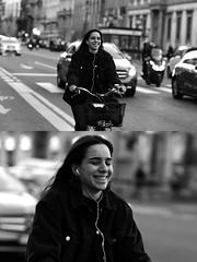 [La Mia Città][Pedala] sorridendo (Urca) Tags: milano italia 2017 bicicletta pedalare ciclista ritrattostradale portrait dittico bike bicycle biancoenero blackandwhite bn bw 993144 nikondigitale scéta sorridendo
