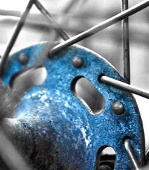 Something Blue (ThisPrivateIsland) Tags: something blue hdr bike wheel spokes