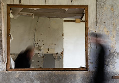 Encounter (Cornelia Pithart) Tags: art blurred blurring encounter indoor people room twopeople window