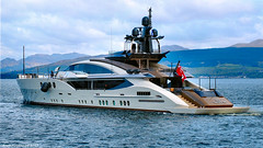Scotland leaving Greenock and heading for Glasgow $55 million dollar yacht Lady M 26 April 2017 by Anne MacKay (Anne MacKay images of interest & wonder) Tags: scotland river clyde greenock 55 million dollar yacht lady m ship xs1 26 april 2017 picture by anne mackay