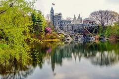 Belvedere Castle Central Park, New York City. (mitzgami) Tags: unitedstates manhattan turtlepond nature park travel landscapes inexplore landscape spring nikonphotography d7000 longexposure nyc flickr newyorkcity centralpark belvederecastle