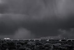 Semitruck, bridge and storm (mtnbikerpt) Tags: semitruck bridge storm clouds