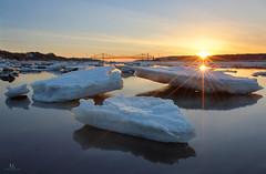 Pont de Québec (Maxime Legare-Vezina) Tags: paysage landscape reflection sunset ice spring