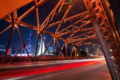Waibaidu Bridge (asusmt) Tags: bridge architecture building night trail steel iron shanghai spring red light 上海 外白渡桥 nikon nikond800 tamronsp1530f28 outdoor