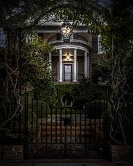 Ornate Entry (Ms Stacy) Tags: 2016 charleston southcarolina ornate entry door fancy wroughtiron trellis archway frontporch veranda