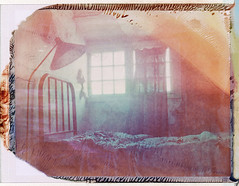 Decayed Bedroom (///Brian Henry) Tags: polaroid instant film roidweek abandoned decay iduv 110a expired haunted
