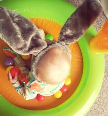 Easter Bunny 🐰 (explored) (kellyhackney1) Tags: happyeaster easterbunny bunnyears babylove cute myworld preciousmoments