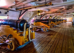 Gun deck (Brett of Binnshire) Tags: sailingship england nationalmuseumoftheroyalnavy highdynamicrange historicalsite ship fortress museum lightroomhdr hampshire lrhdr boat hdr portsmouth locationrecorded manipulations hmsvictory admiralnelson cannon deck