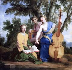 IMG_6467DBA Eustache Lesueur. 1616-1655. Paris.   Les muses, Melpomène (poésie tragique, tragédie), Eratos (Poésie lyrique et chorale) et Polymnie (Rhétorique).The Muses, Melpomene (Tragic Poetry, Tragedy), Eratos (Lyric and Choral Poetry) and Polymnia (R (jean louis mazieres) Tags: peintres peintures painting musée museum museo france paris louvre eustachelesueur
