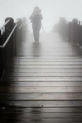Camminare e freddo (SDB79) Tags: ponte camminare freddo gelo nebbia inverno street passaggio figura legno