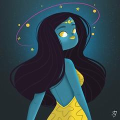 Cosmos (Ivy Nunes) Tags: cosmo galaxy galaxia saturno planets illustration illustrazione ilustração illustrator ilustracion ilustraçao ilustrador draw drawning desenho dessin colors color art arte starw stars estrela
