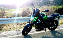 2017-04-27_01-22-52 (David26FM) Tags: kawasaki er6n bike green 650 beautiful road mountains puig hjc dainese speed rider gpr exhaust clean sunset naked