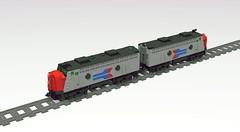 Grandfathered Amtrak F Units (revised) (MiracIe_Boy) Tags: lego amtrak city train locomotive