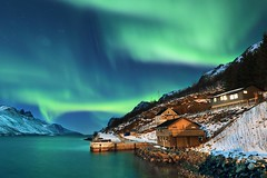 NORTHERN LIGHTS (Tony Armstrong-Sly) Tags: northernnorway norway scandinavia auroraborealis aurora northernlights tromso tromsoaurora fiord fyord nature stars