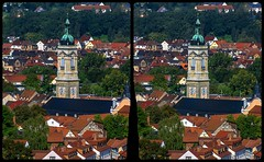 Eisenach old town 3-D / Stereoscopy / CrossView / HDR / Raw (Stereotron) Tags: thuringia thüringen eisenach europe germany hyperstereo architecture town church traditional crosseye crosseyed crossview xview cross eye pair freeview sidebyside sbs kreuzblick 3d 3dphoto 3dstereo 3rddimension spatial stereo stereo3d stereophoto stereophotography stereoscopic stereoscopy stereotron threedimensional stereoview stereophotomaker stereophotograph 3dpicture 3dglasses 3dimage twin canon eos 550d yongnuo radio transmitter remote control synchron sigma zoom lens 70300mm tonemapping hdr hdri raw 100v10f