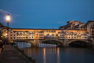 Ponte Vecchio at blue hour.