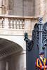 Colourful Swiss Guard protects St. Peter's Basilica (arvomcpart) Tags: vatican wroughtiron gates architecture basilica st peters swissguard colour pontifical pontificia cohors helvetica blue red orange yellow renaissance swiss catholics canon 40d tamron 18200mm